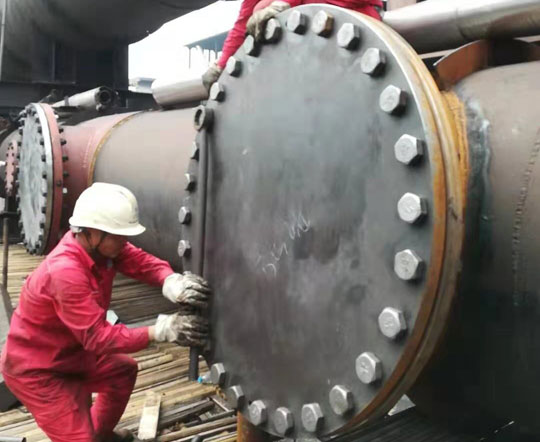 Xin steel 1200mm coke oven gas pipeline level sealing success